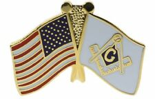 Masonic / USA Flag Hat or Lapel Pin H70096D62