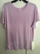 Lululemon Jericho Crew SS Pink Short Sleeve SHIRT Run Swiftly Size 12 New