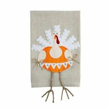 "Mud Pie ""Gather"" Turkey Dangle Leg Hand Towel"