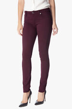 NEW Womens 7 For All Mankind Mid Rise Dark Red Stretch Skinny Pants AU 6 W24 L29