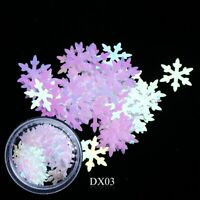 Nail Art Glitter Holographic Spangles Sequins Christmas Snowflakes (DX03)