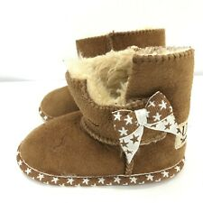 Ugg Boots/Slippers Childrens Size 6-7 Brown Leather Autumn/Winter Casual 291566