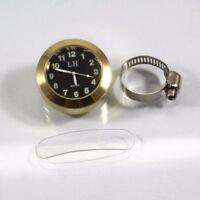 "7/8""- 1"" Motorcycle Handlebar Clock Watch Cruiser Bobber Chopper Cafe Softail"