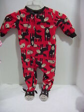 Carter's Boys Red Footed Moose Pajama  size 18M