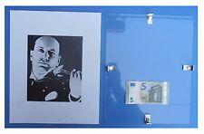 Benito Mussolini con violino violinista duce fascismo quadro cornice vetro