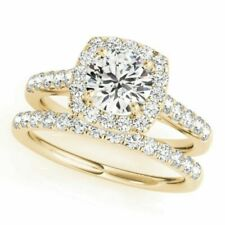 14k White Gold Round Diamond Bridal Wedding Engagement Ring Set 2.50ct