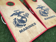 Stained Birch Marine Corps Cornhole Set