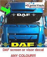 DAF decal windscreen or sun visor, truck sticker LKW CF XF LF