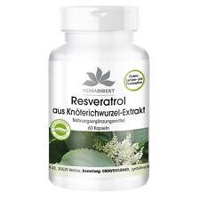 Resveratrol 500 mg - 60 Kapseln, aus Knöterich-Extrakt, vegan | Herba Direkt
