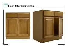 All Wood RTA Country Oak Sink Base Cabinet SB27 Ready To Assemble Kitchen