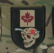 JTF2 SAS Special Air Service CAMP BASTION AFGHANISTAN velkrö CANADA FLAG SKULL