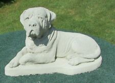 Concrete Mastiff Statue , Memorial Or Grave Marker