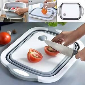 4 in 1 Kitchen Folding Basket Foldable Cutting Board Sinks Drain Chopping Boards