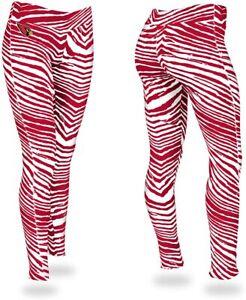 Zubaz Arizona Cardinals NFL Women's Zebra Print Legging, Red