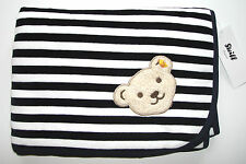 STEIFF® Baby Nicky Krabbeldecke Decke geringelt Marine Bär H/W 2015-16 NEU!