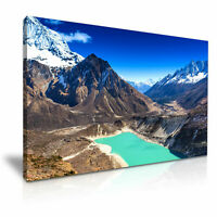 "Sky Lake Himalaya Mountain PICTURE CANVAS WALL ART 20""X30"""