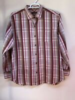 TOMMY BAHAMA Men's 100% Silk Long Sleeve Button Front Shirt Size XL Stripes
