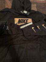 Nike Sweater Pullover Blk/Gold/Silv Men's Sz 3X