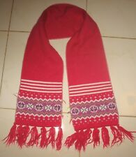 "OLD NAVY  - NEW - 100% ACRYLIC KNIT - RED & WHITE SCARF -  50"" long & 8"" wide"