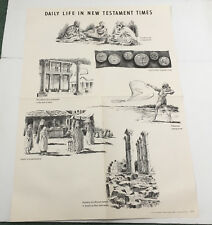 vintage bible school Sunday school poster daily life inn new testament times