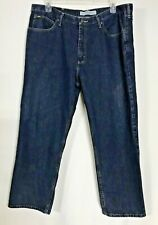 Lee Mens 42 x 30 Relaxed Fit Denim Blue Jeans