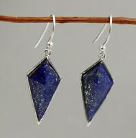 Lapis Lazuli Gemstone Christmas Woman Gift Earring Solid 925 Sterling Silver