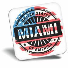 Awesome Fridge Magnet - Miami Florida USA American Flag Cool Gift #6068