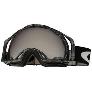 Oakley 57-498 Splice Silver Factory Text Black Iridium Lens Snow Ski Goggles .