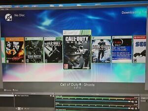Xbox 360 slim Console With Emulators, COD Mod menus.RGH Cr4 Trinity 250gb hdd.