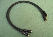 High-End Audio Interconnect Cable 2 X 60cm with Locking RCA Made in EU