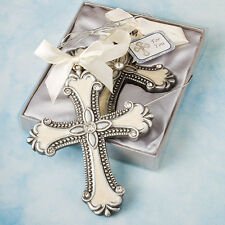 25 Beautiful Cross Hanging Ornament Christening Christmas Tree Gift Party Favor