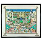 CHARLES FAZZINO Brunch At The Met NYC 1992 3D Art Print LE 200/400 Very Large