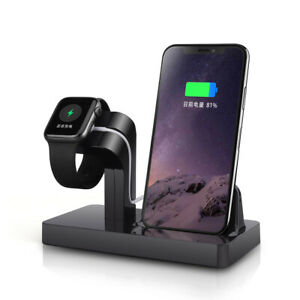 2in1 Charging Dock Stand Bracket For iWatch 6/SE/5/4/3/2 iPhone 12 12Pro 12mini