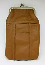 Roma Light Brown Leather Double Pocket Cigarette Pack Case