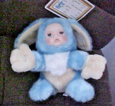 """New listing ASHLEY BELLE 2000 Baby Bunny """"Player"""" Plush with Porcelain Face - Original Tags"""