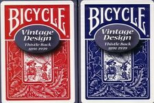 2 VINTAGE Bicycle THISTLE Back Playing Cards Red & Blue Ohio Made!