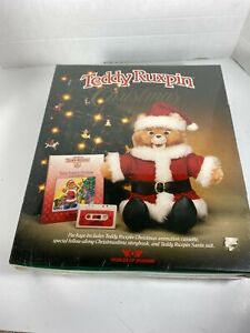1985 SEALED Teddy Ruxpin Christmas Set, Cassette, Storybook, and Santa Suit