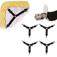 4pcs Bed Suspender Straps Mattress Fastener Holder Triangle Grippers Sheet Clips