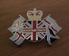 Scottish Unionist Referendum Enamel Pin Badge (30 X 22 Mm)