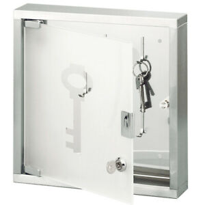 Key Box Stainless Steel Glass Key Cabinet Schlüsselbox Keyboard