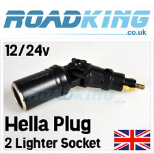 Adjustable Hella Plug 2 Lighter Socket Adapter w/ Centre Swivel | 12v  24v 8 Amp