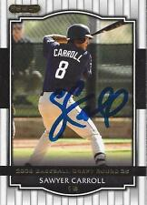 Sawyer Carroll San Diego Padres 2008Razor Signed Card