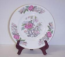 WEDGWOOD CATHAY DINNER PLATE PATTERN W4053 PINK BLUE FLOWERS BIRDS C. 1950