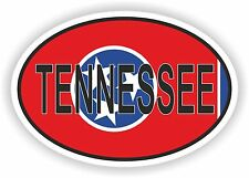 OVAL TENNESSEE STATE WITH FLAG USA STICKER AUTO MOTO TRUCK LAPTOP BIKE CAR