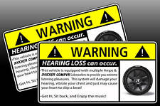 "Kicker COMPVR Sub BASS Warning Sticker Decal 12"" 10"" 8"""