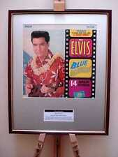 ELVIS PRESLEY BLUE HAWAII ORIGINAL FRAMED ALBUM COVER ARTWORK