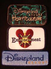 New Disney Patches DLR Disneyland Resort Horticulture & Resort Team Set of 3