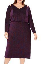 Calvin Klein Women's Dress Blue Size 20W Plus Metallic Blouson $199 #309