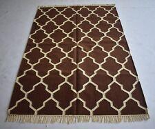 Wool Cotton Modern Morocco Rug Carpet 4x6 Feet Home Decor Dhurrie