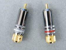 2x AIV HQ Cinchstecker vergoldet mit Teflon Isolierung für Kabel > 8 mm